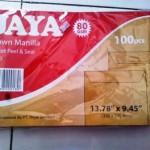 15. Amplop Coklat Polos Folio + Lem Jaya